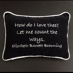 Other - Elizabeth Barrett Browning Poem Decor Small Pillow